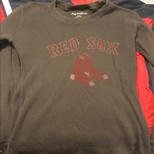Large Wright & Ditson Red Sox Faded Gray Thermal